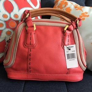 NWT orYany Trixie Orange Leather Satchel